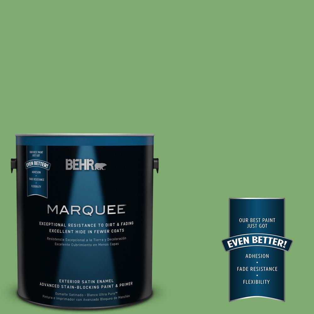 BEHR MARQUEE 1-gal. #M390-5 Sage Garden Satin Enamel Exterior Paint