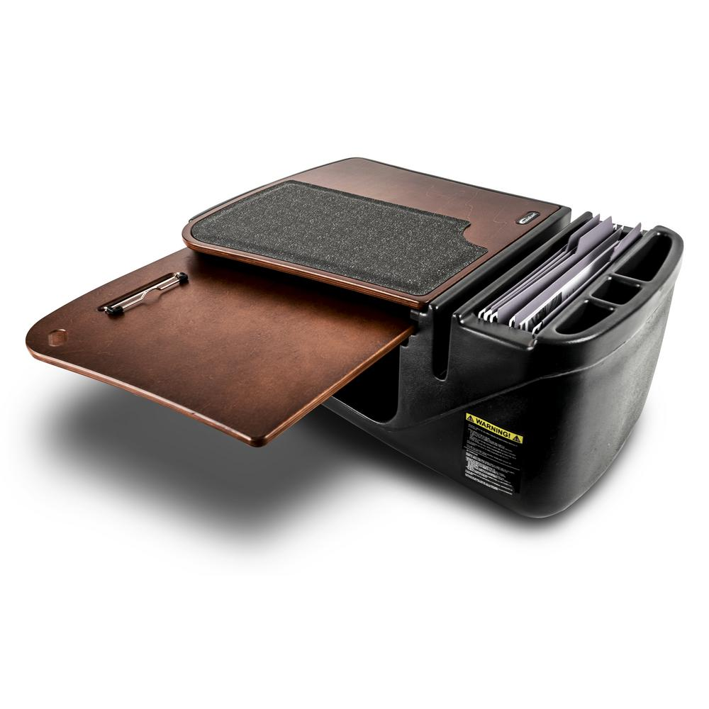 AutoExec AEGrip-04P-MAH Car Desk Mahogany Finish with X-Grip Phone Mount and Printer Stand 1 Pack