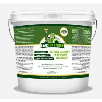 5 gal. Lead Defender Off White Flat Interior/Exterior Paint and Primer Lead Paint Sealant and Treatment