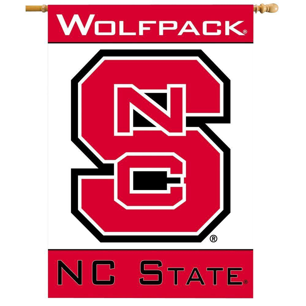BSI Products NCAA 28 in. x 40 in. NC State 2-Sided Banner with Pole Sleeve