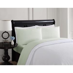 London Fog 6-Piece Solid Sage Queen Sheet Set by London Fog