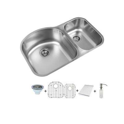 ukinox stainless steel 0 undermount kitchen sinks kitchen rh homedepot com drop in stainless steel kitchen sinks home depot