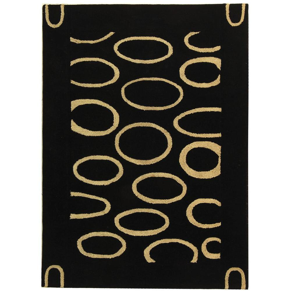 Soho Black/Ivory 5 ft. x 8 ft. Area Rug