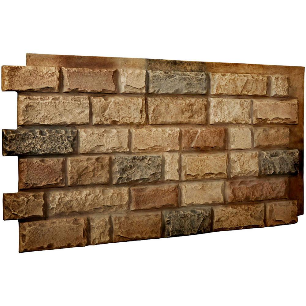 Ekena Millwork 1-1/2 in. x 48 in. x 25 in. Saturn Urethane Cut Coarse Random Rock Wall Panel