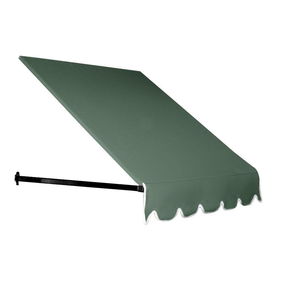 AWNTECH 4 ft. Dallas Retro Window/Entry Awning (44 in. H x 48 in. D) in Olive