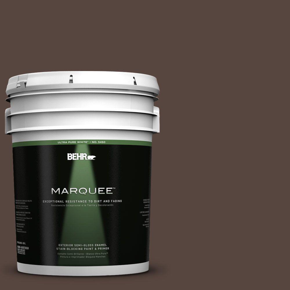 5-gal. #PMD-91 Iced Espresso Semi-Gloss Enamel Exterior Paint