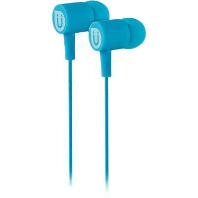 Rubberized Ear Buds - Blue