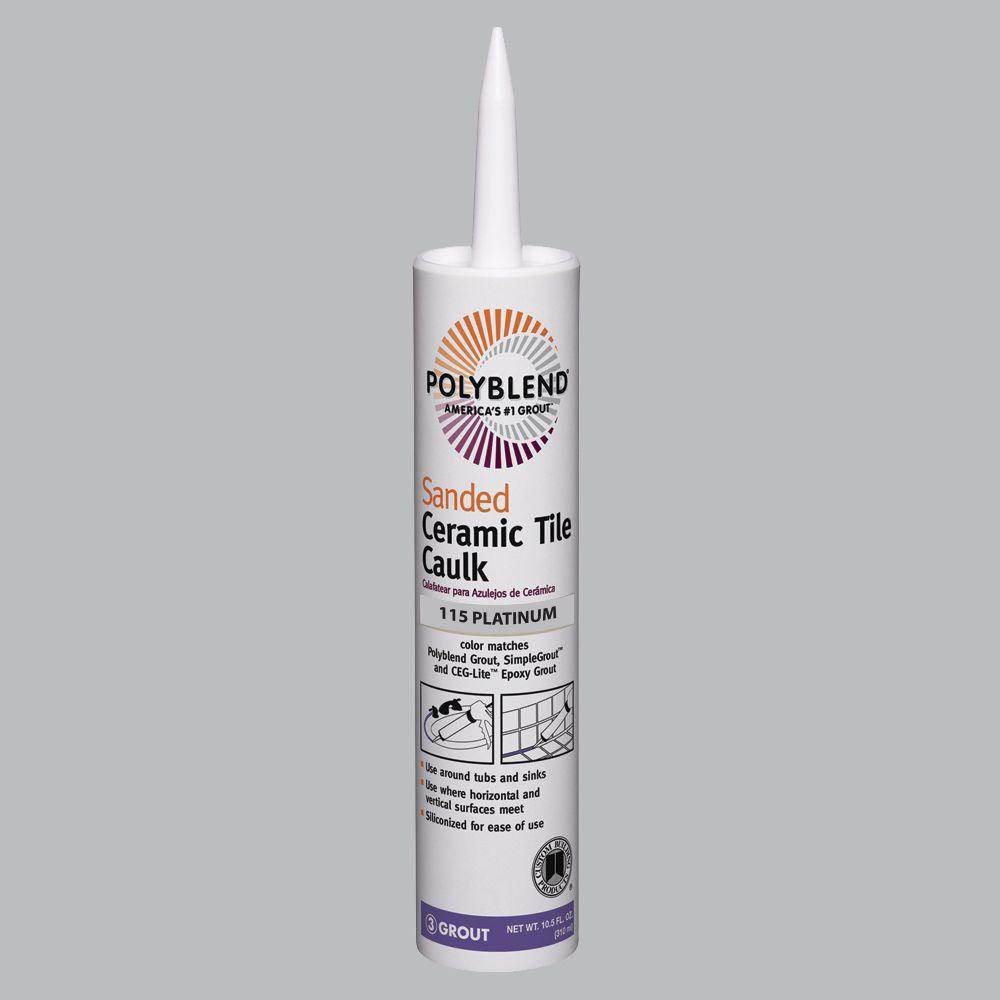 Custom Building Products Polyblend #115 Platinum 10.5 oz. Sanded ...