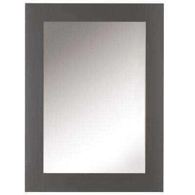 22 in. W x 30 in. H Framed Rectangular  Bathroom Vanity Mirror in Dark Charcoal
