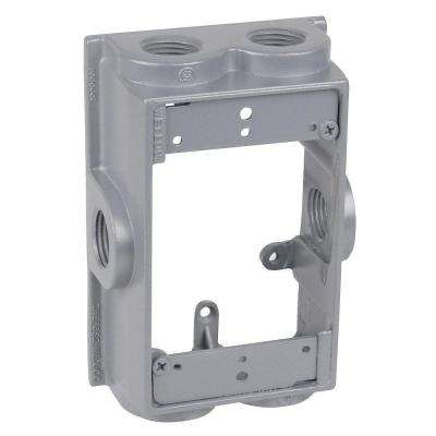 1-Gang Flanged Weatherproof Box Extension with 6 3/4 in. Holes