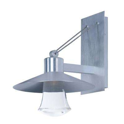 Coldwater 6 in. Wide 1-Light Burnished Outdoor Integrated LED Wall Lantern Sconce