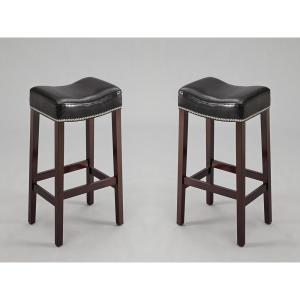 Excellent 25 8 In Nadia Black Saddle Stool Set Of 2 Pdpeps Interior Chair Design Pdpepsorg