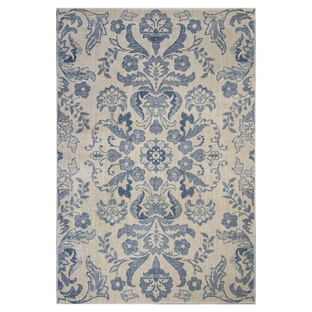 Kas Rugs Floral Affair Ivory 3 Ft. 3 In. X 4 Ft. 11