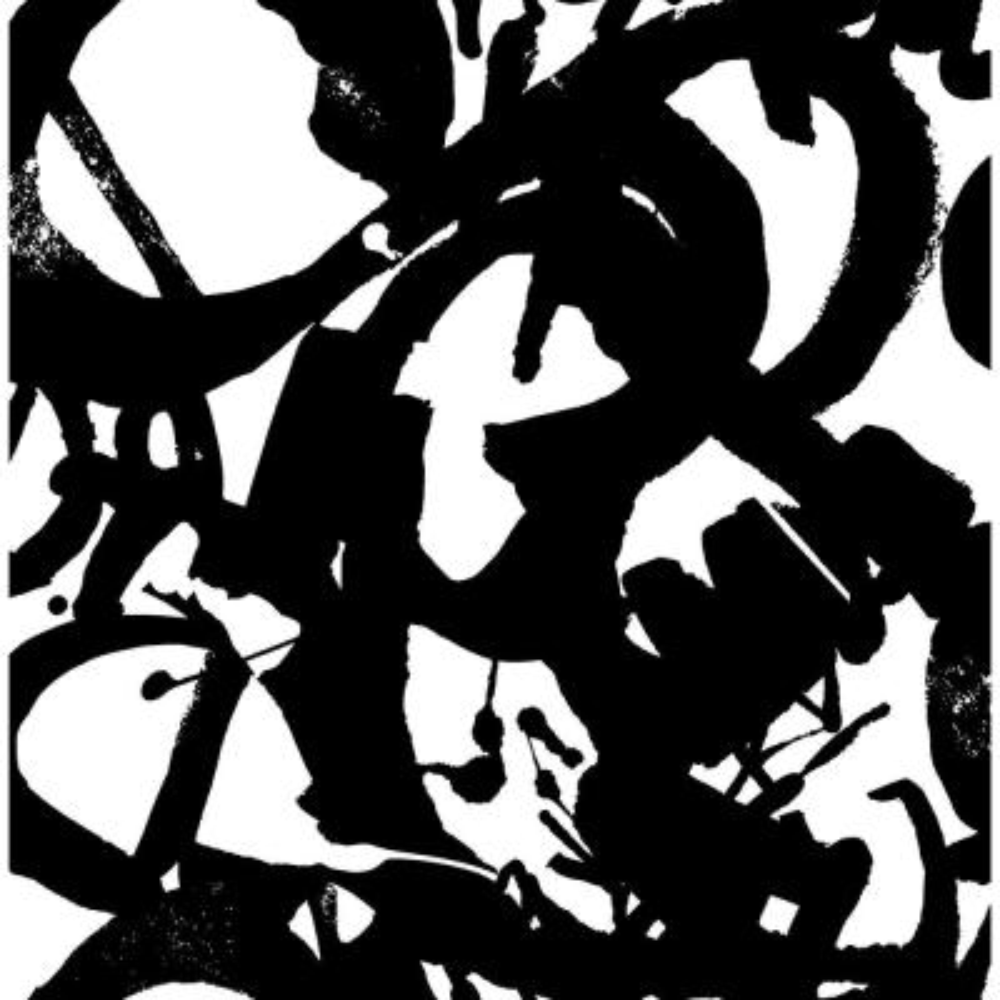 Laverne Black and White Graphic Wallpaper