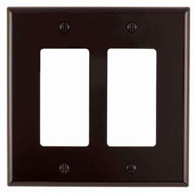 Decora 2-Gang Midway Nylon Wall Plate, Brown