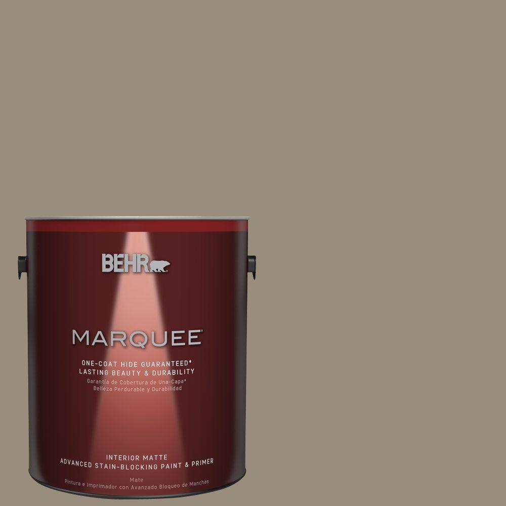 BEHR MARQUEE 1 gal. #MQ6-29 Lost Canyon One-Coat Hide Matte Interior Paint
