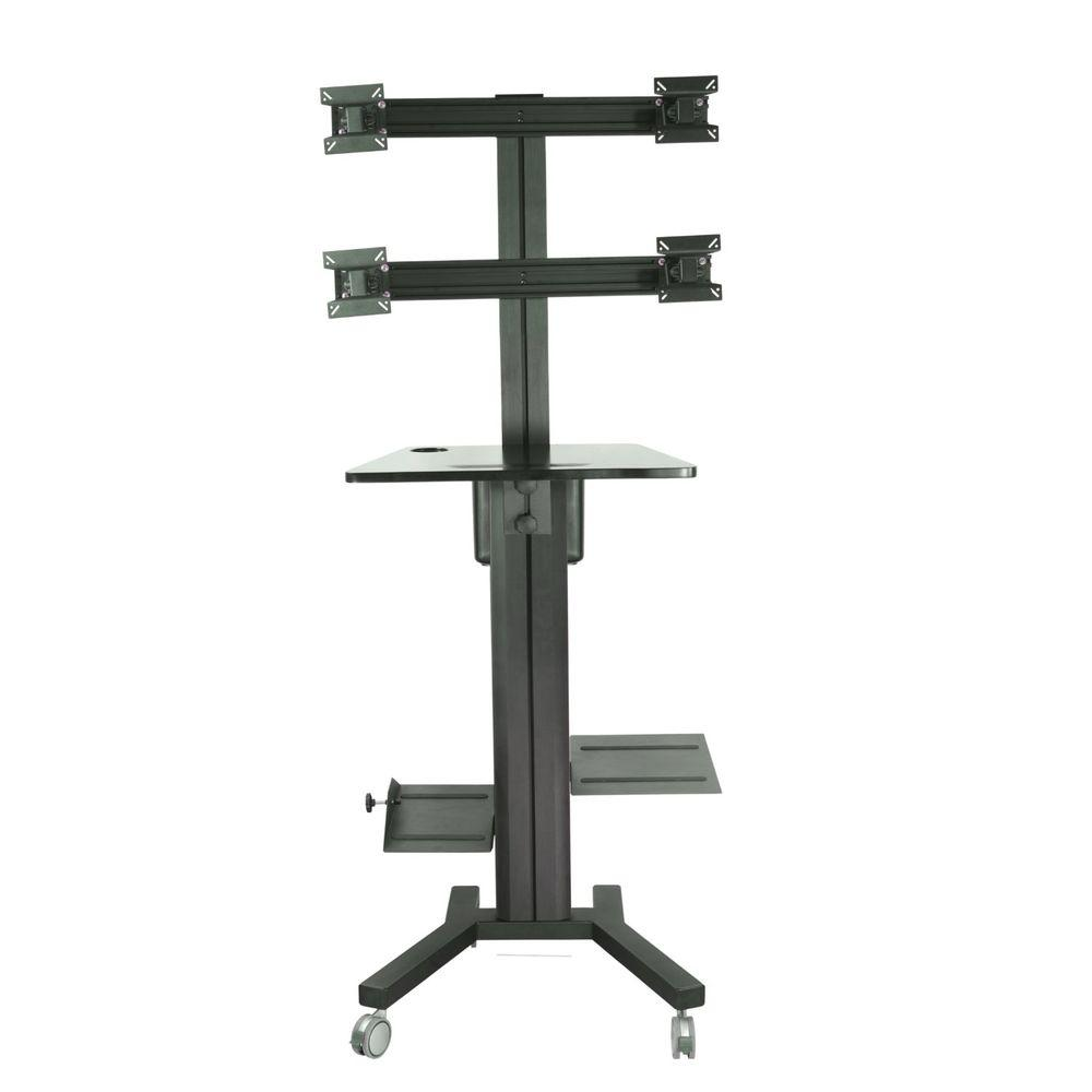 Tygerclaw Mobile Tv Stand For 4 Screen With Pc Holder Lvw8607 The