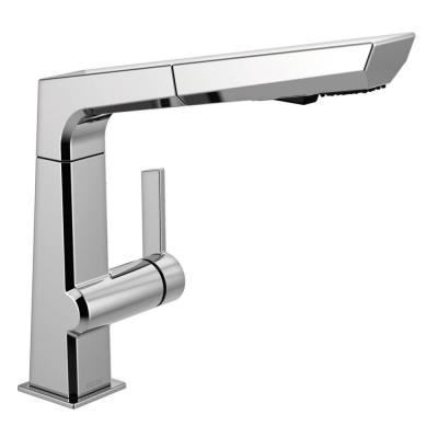 Pivotal Single-Handle Pull-Out Sprayer Kitchen Faucet in Chrome