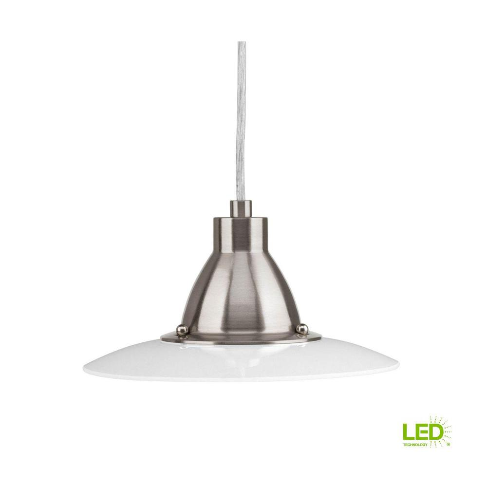 Progress Lighting Avant Collection 1 Light Brushed Nickel Integrated Led Mini Pendant
