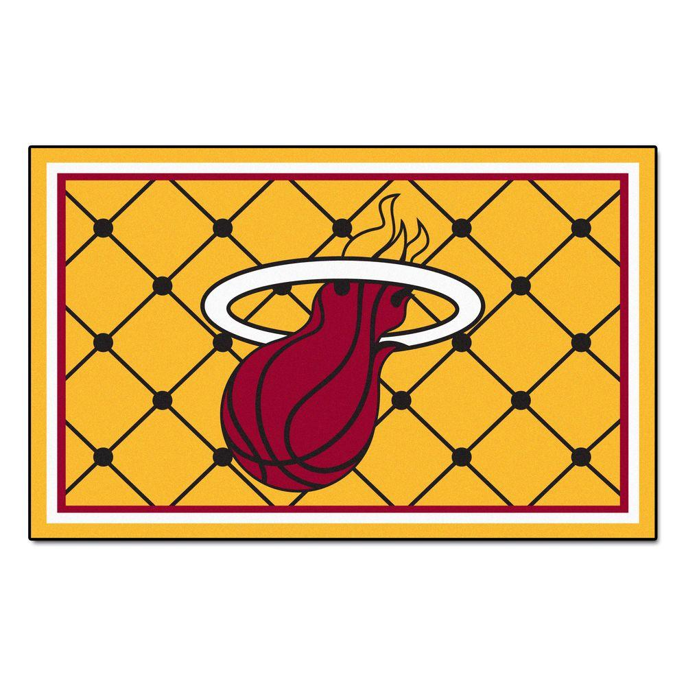 FANMATS Miami Heat 5 Ft X 8 Area Rug 9315 The Home