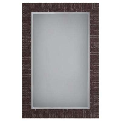 Wooden Framed Mirror in Brown Texture Finish