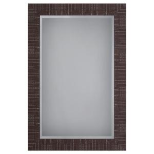 Yosemite Home Decor Wooden Framed Mirror in Brown Texture Finish by Yosemite Home Decor