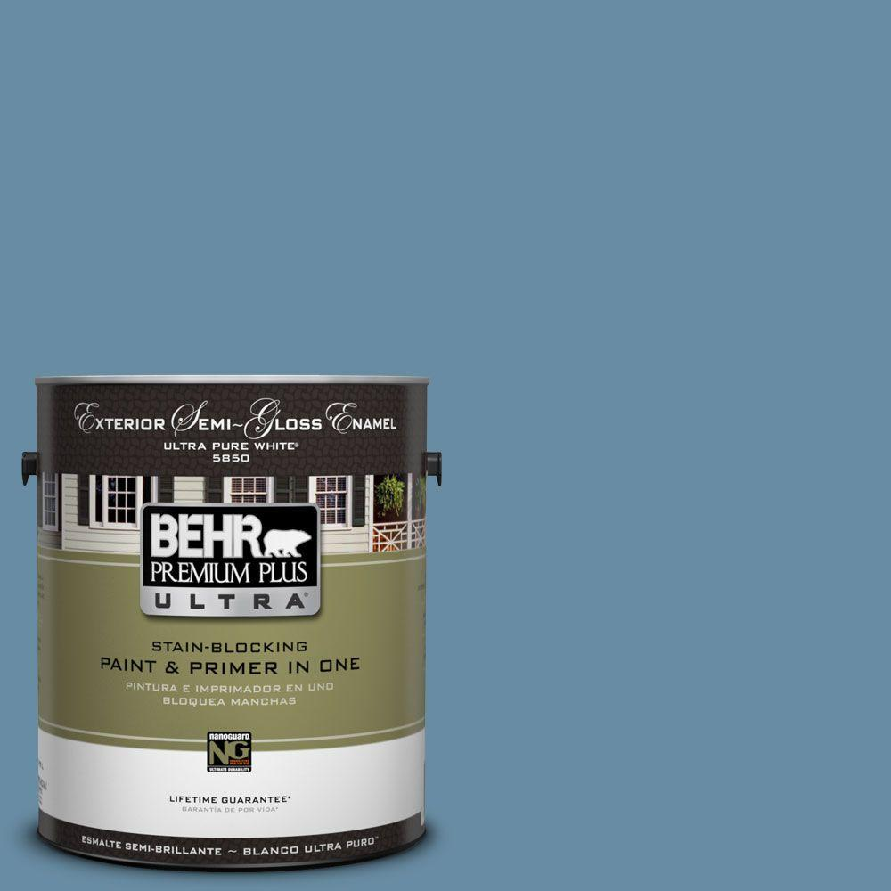 BEHR Premium Plus Ultra 1-Gal. #UL230-18 French Court Semi-Gloss Enamel Exterior Paint