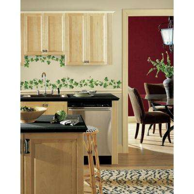 5.7 In. X 11.5 In. Painterly Ivy Peel And Stick Wall Decals Part 87