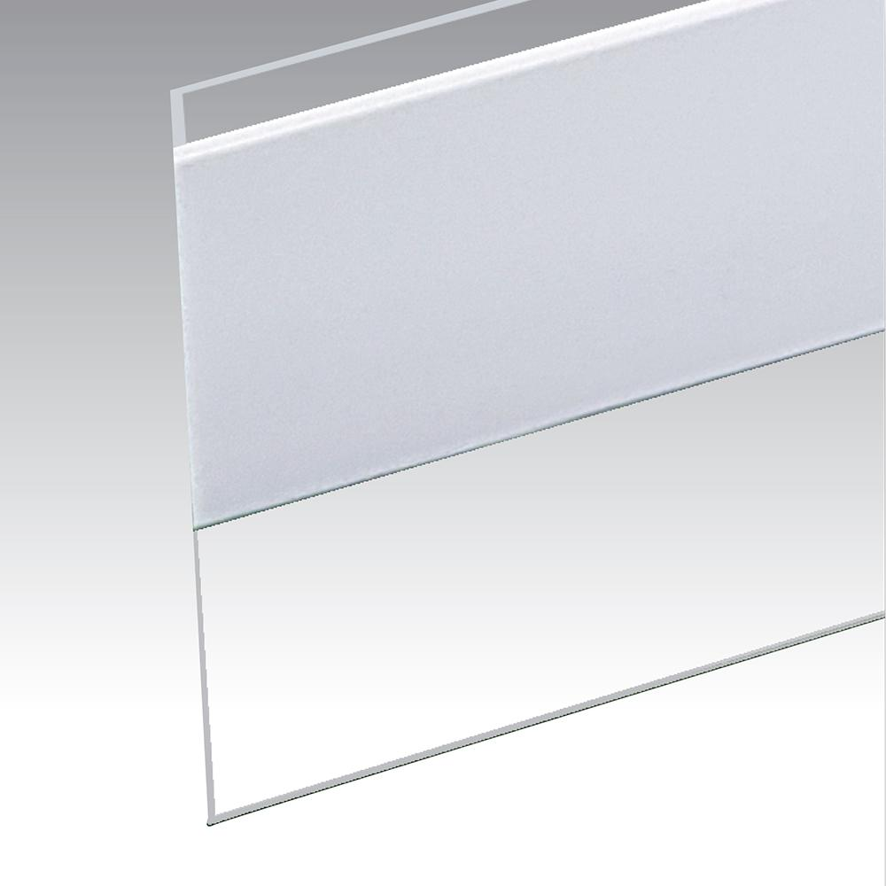 1.5 in. x 36 in. E/O Clear Self Stick Door/Bottom