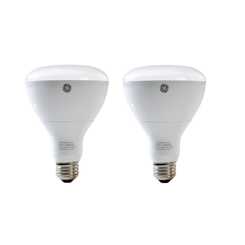 65W Equivalent Soft White BR30 Dimmable LED Light Bulb (2-Pack)