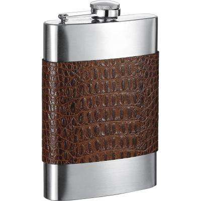 Bensimon Cognac Handcrafted Leather Liquor Flask