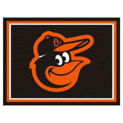 MLB - Baltimore Orioles Black 10 ft. x 8 ft. Indoor Rectangle Area Rug