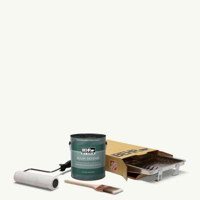 1 gal. PPU18-6 Ultra Pure White Extra Durable Semi-Gloss Enamel Int. Paint & 5-Piece Wooster Set All-in-One Project Kit