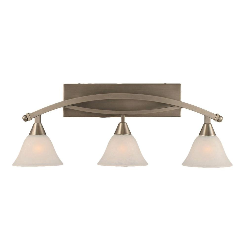 Filament Design Concord 3 Light Brushed Nickel Bath Vanity Light Cli Tl5010292 The Home Depot