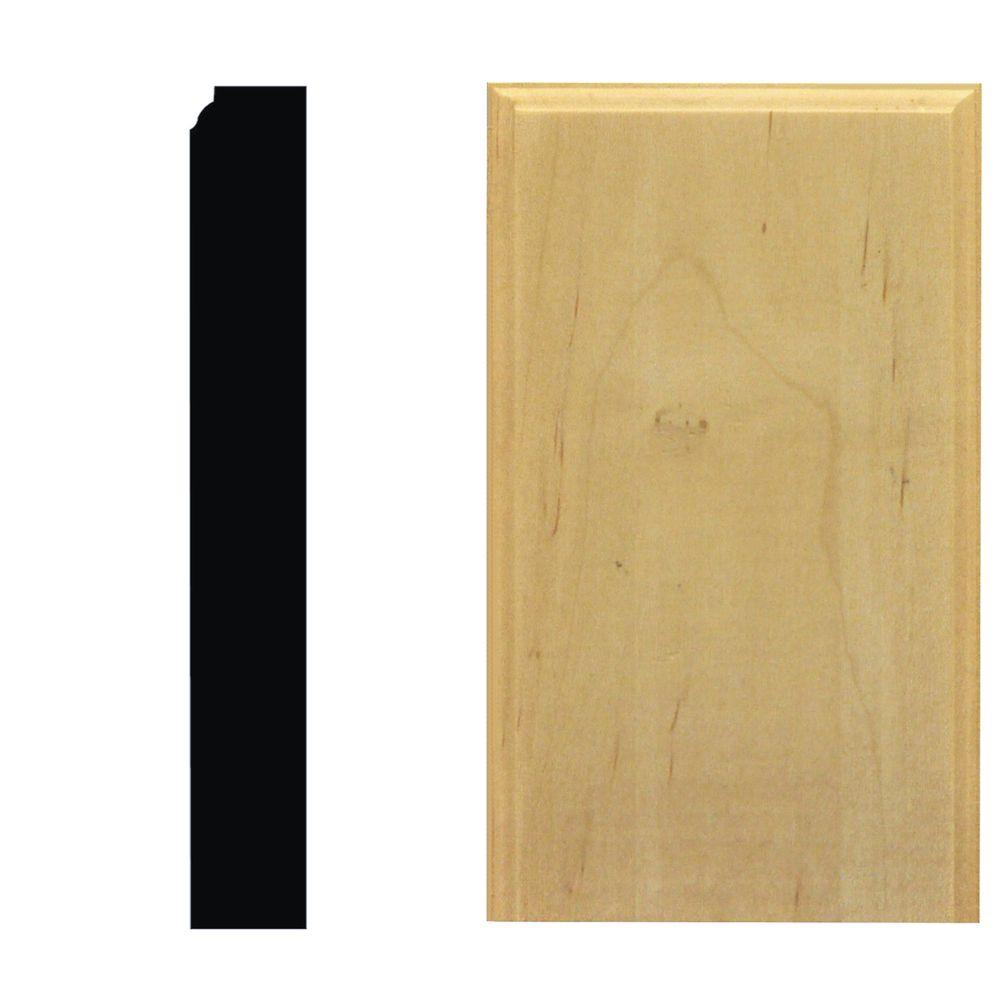 House of Fara 7/8 in. x 3-1/2 in. x 6 in. Maple Plinth Block Moulding-DISCONTINUED