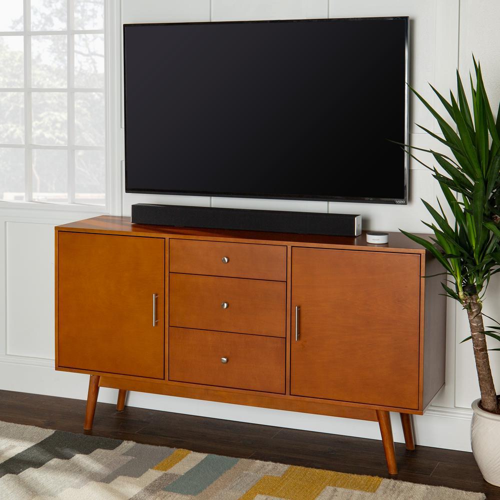 Walker Edison Furniture Company 60 in. Mid Century Modern Wood TV