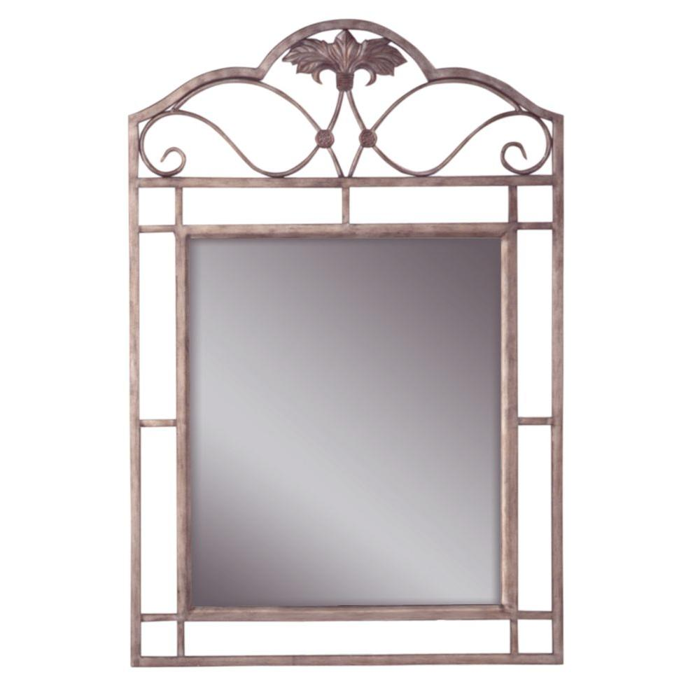 Hillsdale Furniture Bordeaux 42.25 in. x 28 in. Metal Framed Mirror