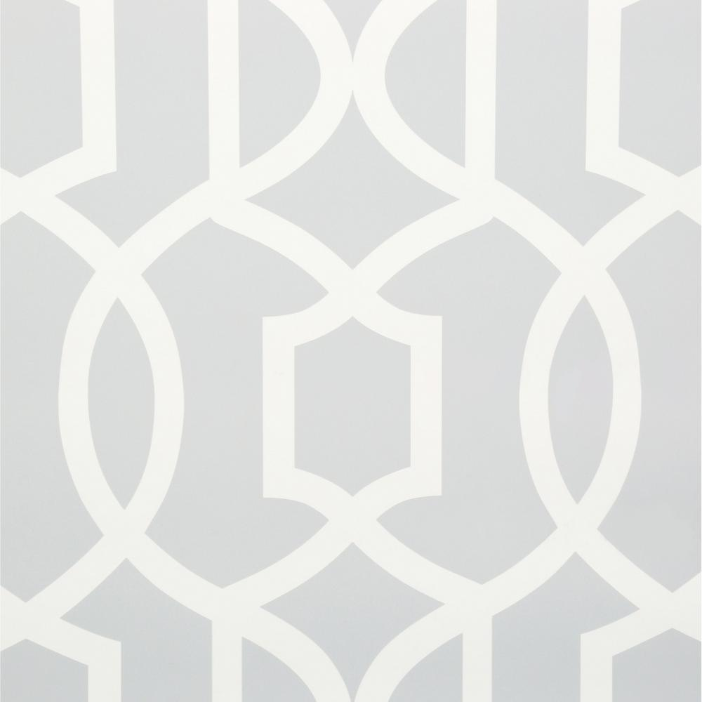 Nuwallpaper sq ft grey grand trellis peel and for Paintable peel n stick wallpaper