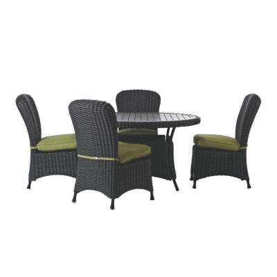 Lake Adela Charcoal 5 Piece Patio Dining Set With Cilantro Cushions