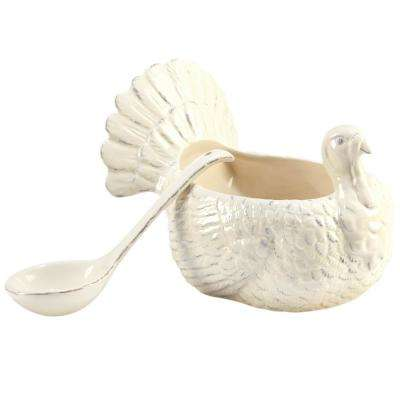 Autumn Fields by Susan Winget 3-D Turkey 26 oz. Gravy Boat with Ladle