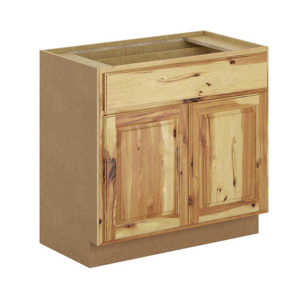 Madison Base Cabinets In Cognac: Hampton Bay Madison Assembled 36x34.5x21 In. Base Bathroom