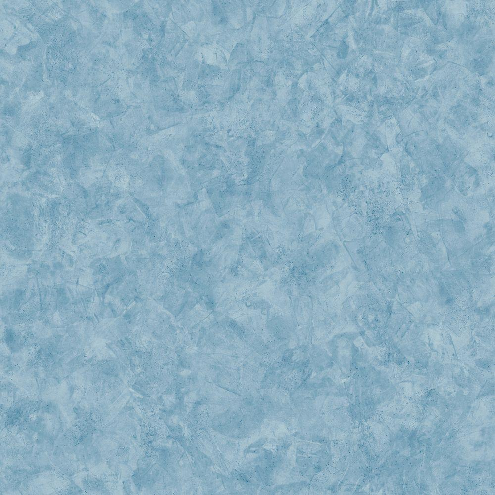 The Wallpaper Company 56 sq. ft. Blue Stucco Texture Wallpaper
