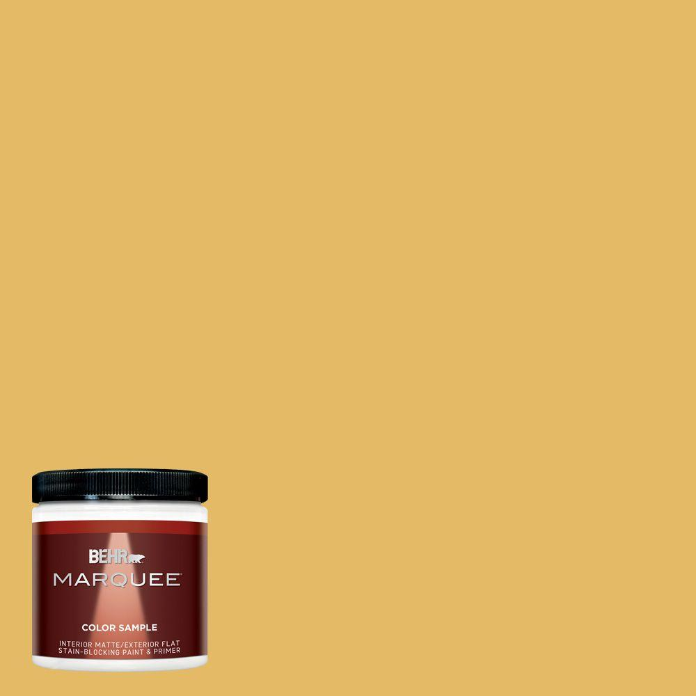 BEHR MARQUEE 8 oz. #MQ4-12 Dandelion Wish Matte Interior/Exterior Paint and Primer Sample