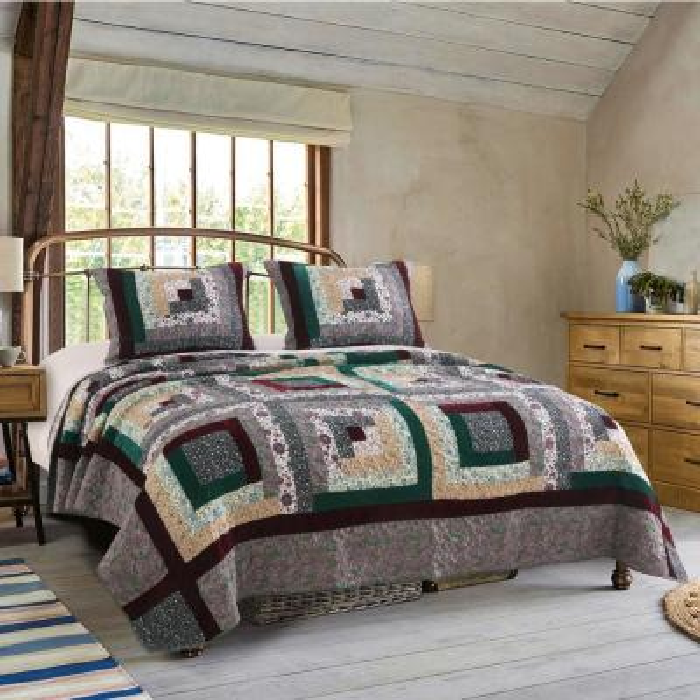 Pine Grove Quilt Set, 3-Piece King