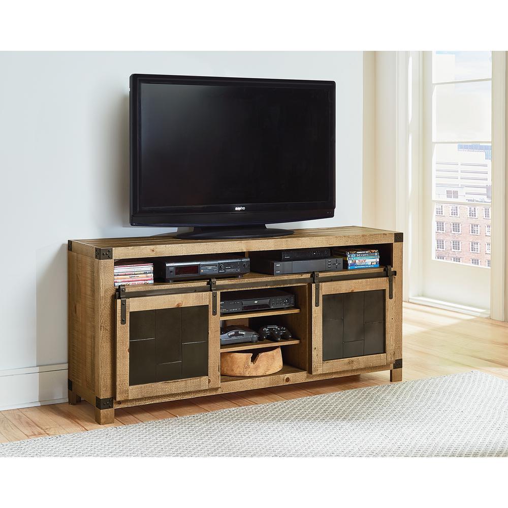 Progressive Furniture Mojo 64 In Driftwood Entertainment Console