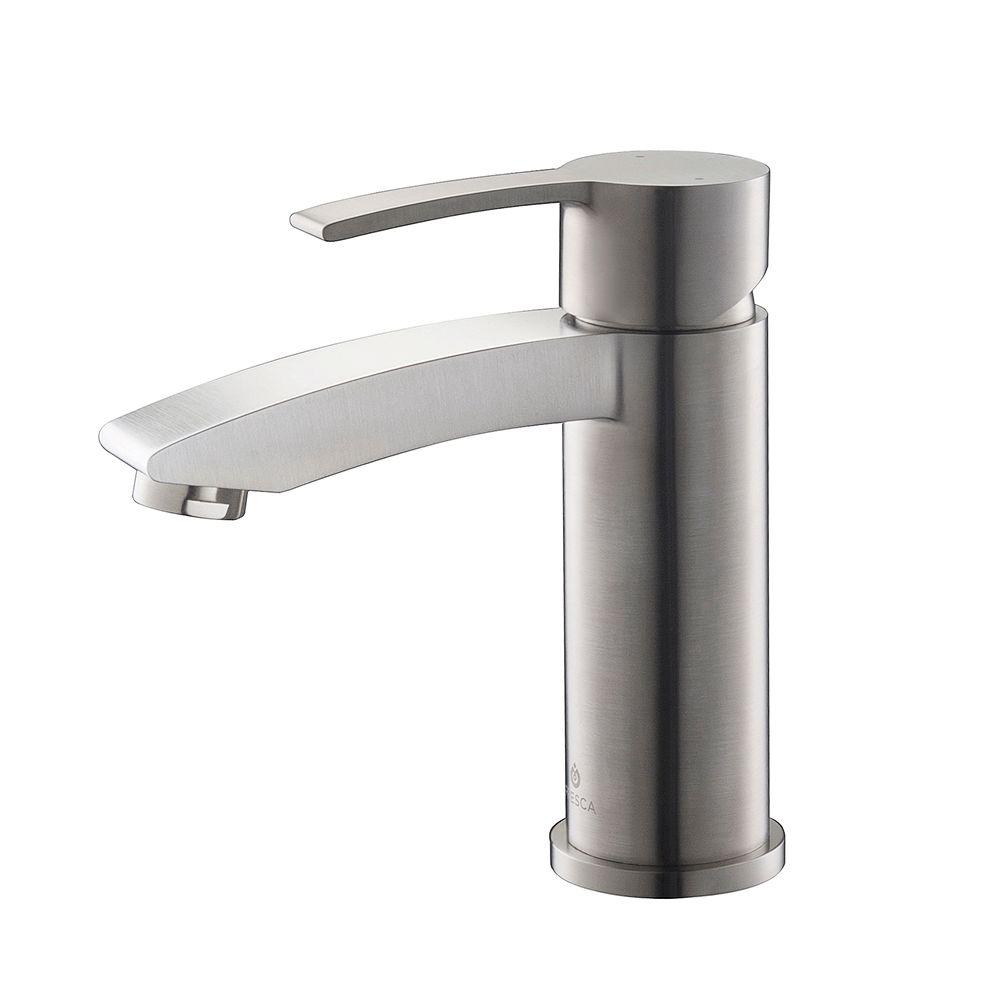 brushed nickel bathroom sink fresca livenza single single handle low arc bathroom 17548