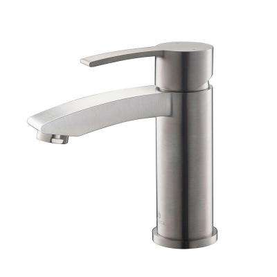 Livenza Single Hole Single-Handle Low-Arc Bathroom Faucet in Brushed Nickel
