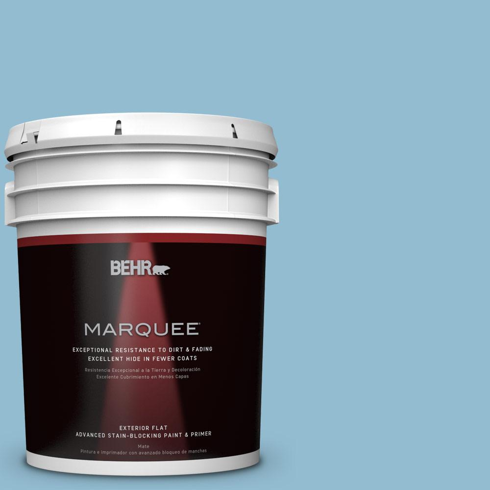 5-gal. #S490-3 Reef Blue Flat Exterior Paint