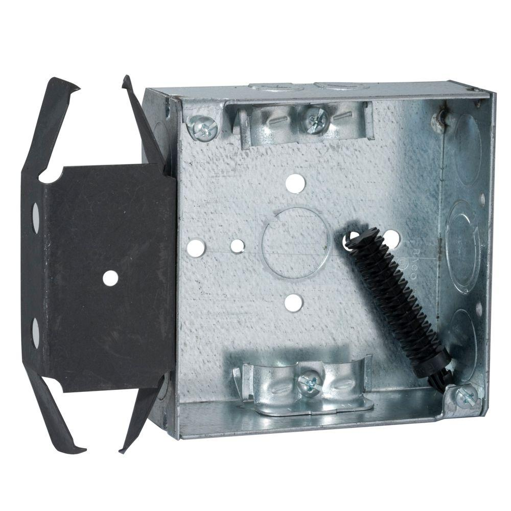 4 in. Square Box, Welded, 1-1/2 in. Deep with NMSC Clamps