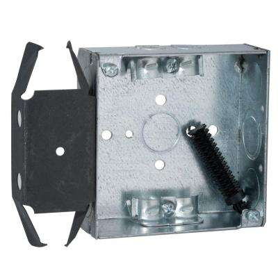 4 in. Square Box, Welded, 1-1/2 in. Deep with NMSC Clamps and BOX-LOC Bracket (25-Pack)